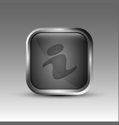 gray information logo vector image vector image