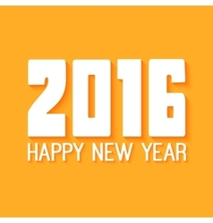 Happy New Year Paper text design on yellow vector image vector image