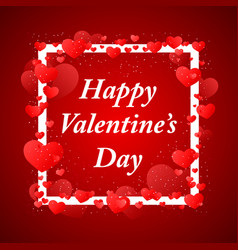 happy valentins day greeting vector image vector image