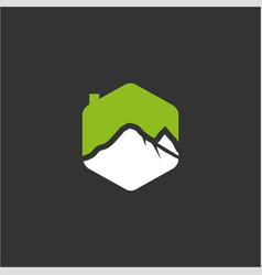 mountain house logo vector image vector image