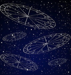 Natal charts astrology background vector