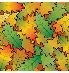oak leaf abstract background seamless vector image vector image