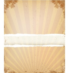 Old paper grunge background vector image vector image