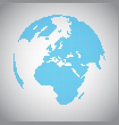 pixel earth vector image vector image