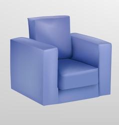 Purple armchair vector