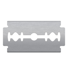 Razor blade vector image vector image