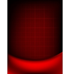 Red curtain fade to dark card EPS 10 vector image vector image