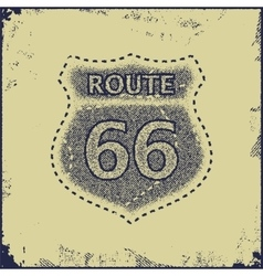 route sixty six sign vector image