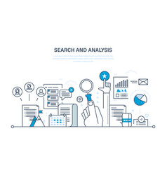 Search and analysis of information marketing vector