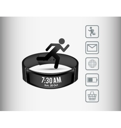 Smart wristband wearable technology sport vector