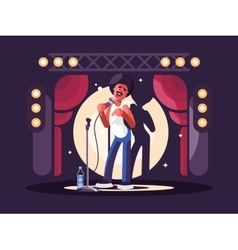 Standup show character design vector image