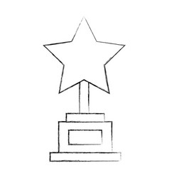trophy star award icon vector image