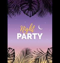 vintage night beach party vector image