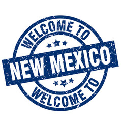 Welcome to new mexico blue stamp vector