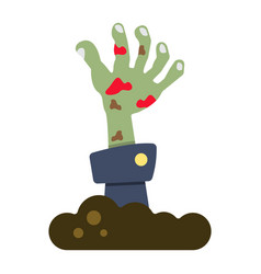 zombie hand flat icon halloween and scary vector image