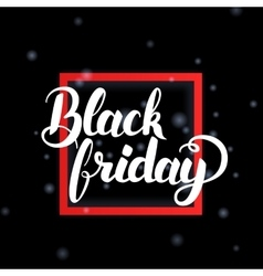 Black friday in frame vector