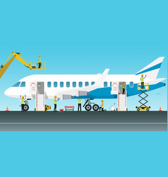 Aircraft maintenance engineer vector