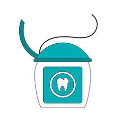 Color image cartoon dental floss for oral health vector