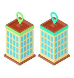 Skyscraper location set vector