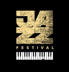 Jazz flyer on grunge background vector