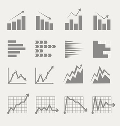 Graphic business ratings and charts vector