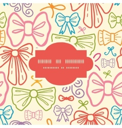 Colorful bows frame seamless pattern background vector