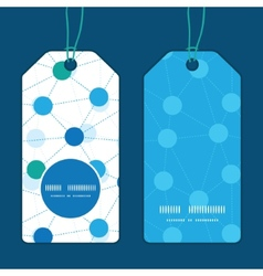Connected dots vertical round frame pattern tags vector
