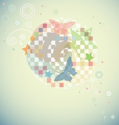 Modern swirly background with abstract shapes and vector