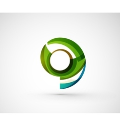 Abstract geometric company logo ring circle vector