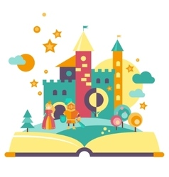 Imagination concept open book vector