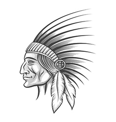 Indian tribe leader vector