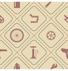 Seamless background with bicycle icons vector