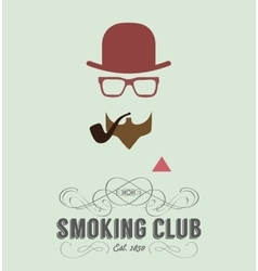 Smoking club card vector