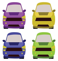Cars front view vector