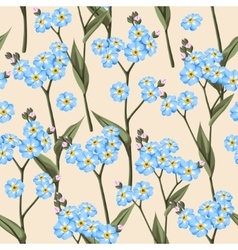 Seamless forget me not vector