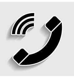 Phone sign sticker style icon vector