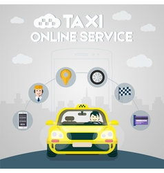 Taxi online service vector