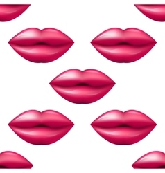 Kiss seamless lips pattern red and pink pattern vector