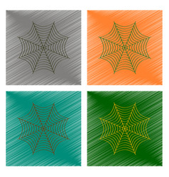 Assembly flat shading style icon spider web vector