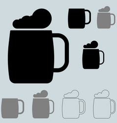 black brewer bocal or brewer mug vector image vector image