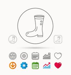 Boots icon garden rubber shoes sign vector