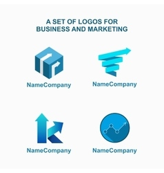 Business logo template vector image vector image