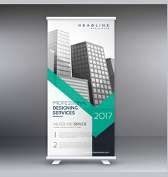 Business presentation roll up banner standee vector