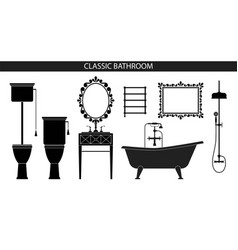 classic old style furniture for the bathroom vector image