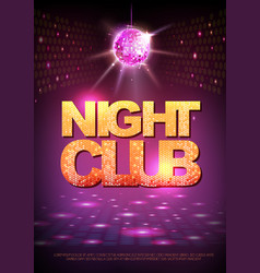 Disco ball background disco poster night club vector