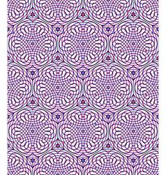 Endless colorful symmetric pattern graphic design vector image