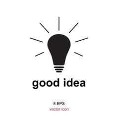 Exellent idea lamp icon vector
