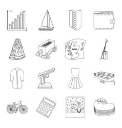 Finance transportation food and other web icon vector