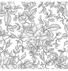 floral seamless pattern flower background garden vector image