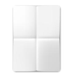 Folded list of white paper vector